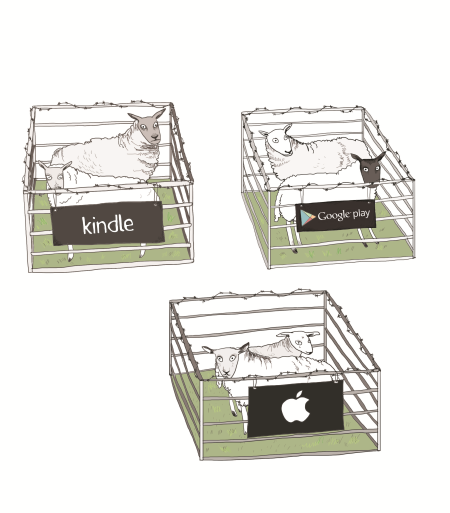 Sheeps trapped in fences from Apple, Amazon and Google ecosystems